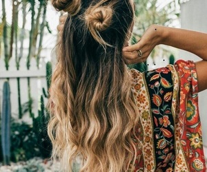 hair, style, and buns image