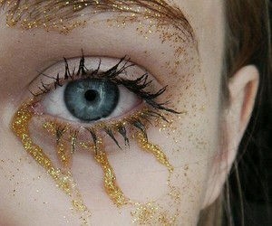 glitter, blue, and eyes image