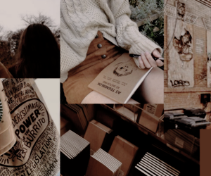 aesthetics, brown, and Collage image