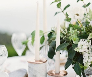 centerpiece, wedding inspo, and marble image