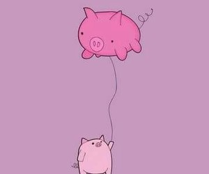 pig, pink, and cute image