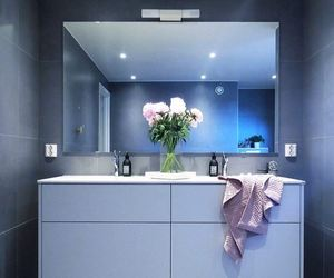 bathroom, grey, and gris image