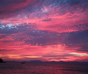 sky, sunset, and pink image