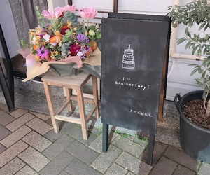 cafe, flower, and japan image