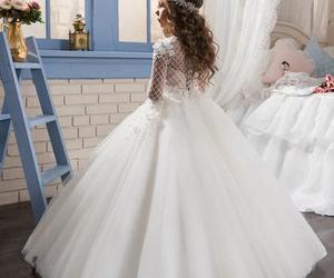 ball gowns, flower girl dress, and applique image