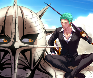 one piece, zoro, and pika image
