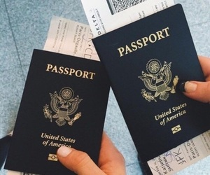 travel, passport, and goals image
