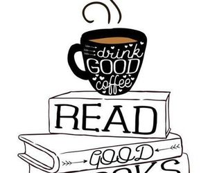 book, coffee, and read image