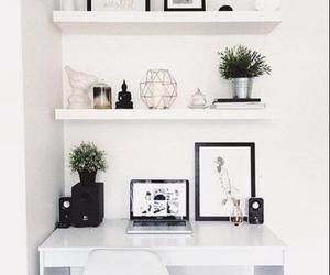 room, decor, and desk image