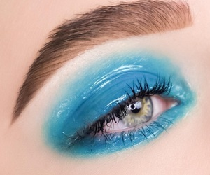 art, beauty, and blue eyes image