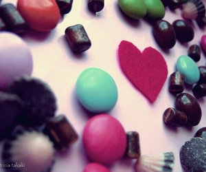candy, chocolate, and heart image