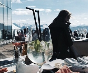 Cocktails, fashion, and mountains image