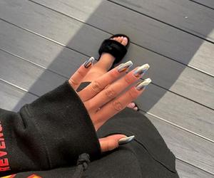 black, puma, and nails image
