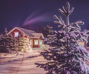 christmas, snowing, and holidays image