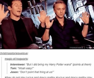 harry potter, tom felton, and draco malfoy image