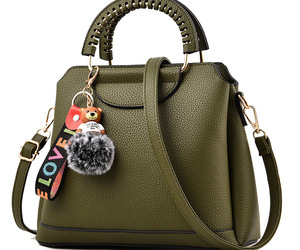 bags, fashion, and army green image