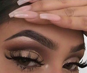 eyelashes, fashion, and makeup goals image