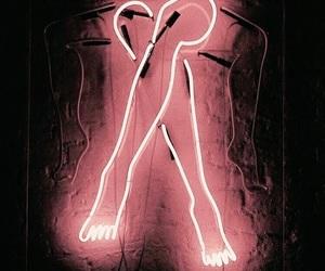 pink, lights, and art image