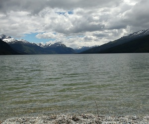 cloudy, patagonia, and lago image