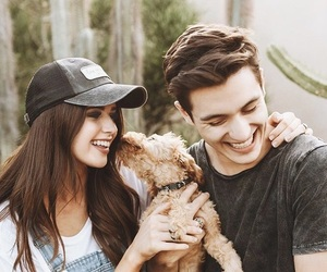 goals, couple, and puppy image