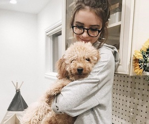 dog, girl, and jess conte image