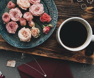 afternoon, coffee, and flower image