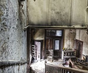 interior, mansion, and abandoned image