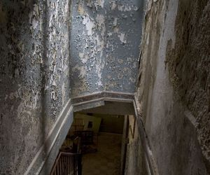 dark, shadow, and stairs image