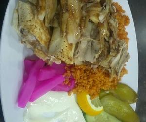 Chicken, sallad, and delicious image