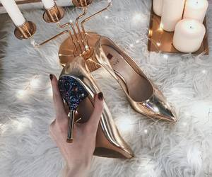 candles, fashion, and gold image
