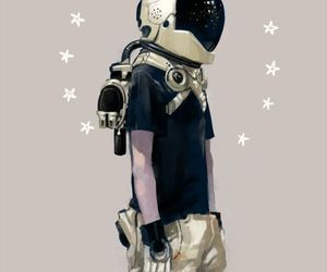 astronaut, art, and boy image