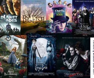 alice in wonderland, big fish, and charlie and the chocolate factory image
