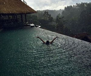 rain, swim, and water image