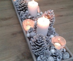 christmas, candle, and diy image
