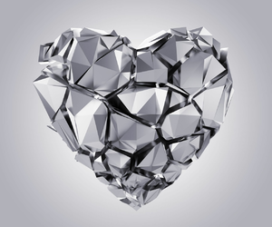 chrome, fragments, and heart image