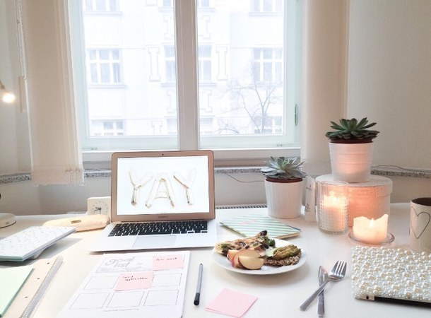study, candle, and home image