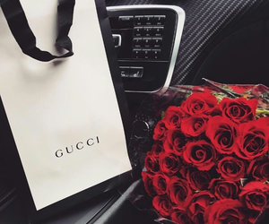 gucci, roses, and love image