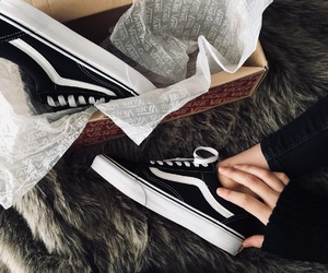 black, shoes, and vans image
