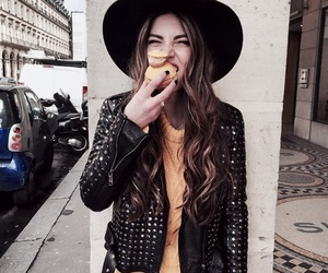 fashion, leather jacket, and yellow image