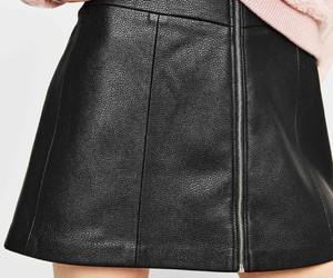 black, minigonna, and clothes image