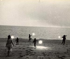 beach, light, and vintage image
