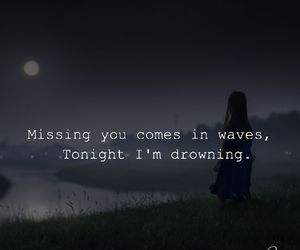 alone, drowning, and missing image
