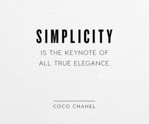 elegance, coco chanel, and simplicity image