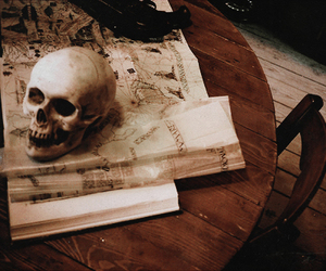 magic, skull, and death eater image