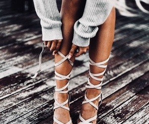 cool, legs, and sandals image