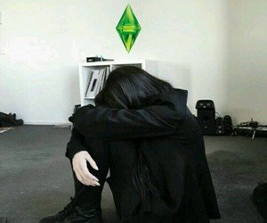 black, grunge, and sims image