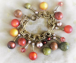 charm bracelet, beaded bracelet, and heidistreasurechest image