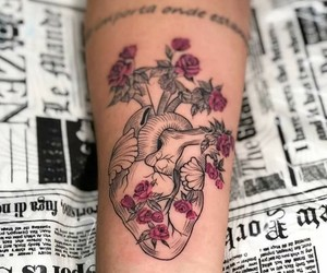 arm, art, and flowers image
