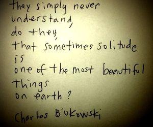 charles bukowski and solitude image