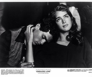 black and white, brooke shields, and couple image
